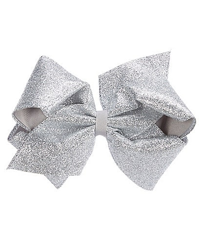 Adventure Wear by Copper Key Girls Party Glitter and Grosgrain Overlay King Bow