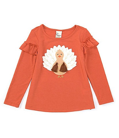 Adventure Wear by Copper Key Little Girls 2T-6X Turkey Long Sleeve Top