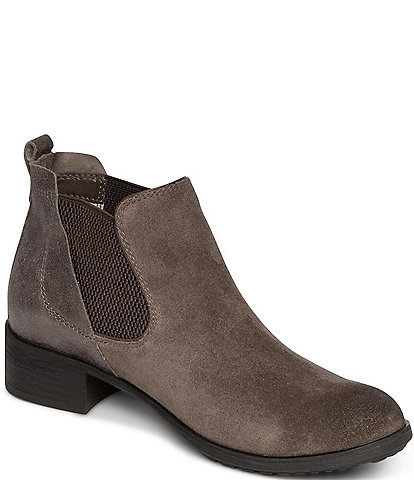 Aetrex Beth Water Resistant Suede Chelsea Ankle Boots