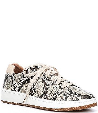 Aetrex Blake Snake Print Leather Sneakers