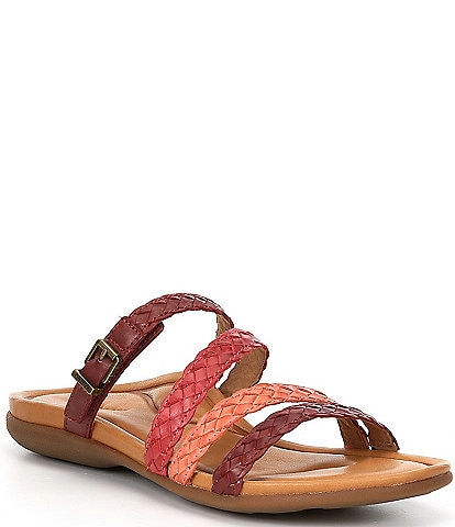Aetrex Brielle Woven Leather Wedge Sandals