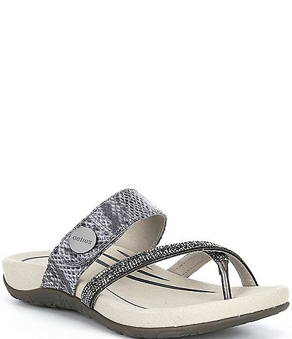 Aetrex Izzy Embellished Thong Sandals
