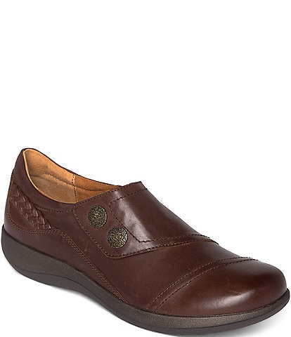 Aetrex Karina Monk Strap Leather Loafers