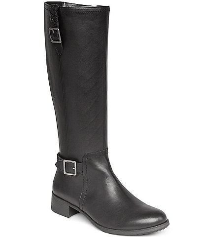 Aetrex Vera Water-Resistant Block Heel Riding Boots