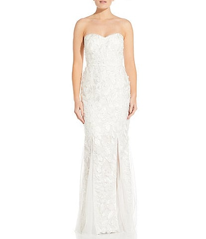 Aidan Aidan Mattox Sweetheart Neckline Embroidered Mermaid Gown