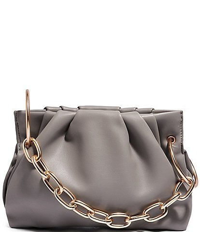 House of Want Chill Vegan Leather Chain Strap Framed Clutch Bag