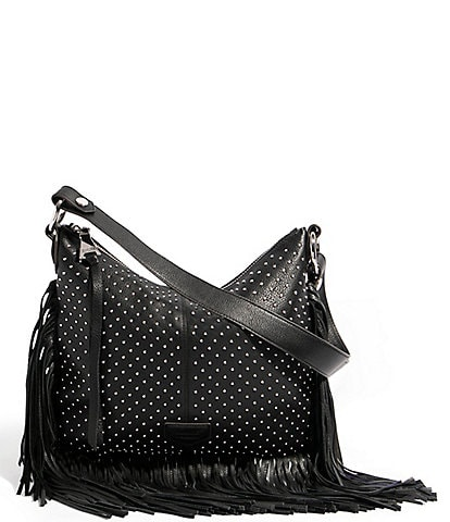Aimee Kestenberg Leather Beach Babe Fringe Hobo Bag