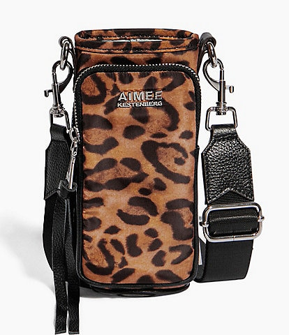 Aimee Kestenberg On Top Of The World Leopard Water Bottle Crossbody Bag