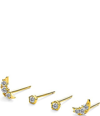 AJOA by Nadri Crescent Stud Ear Set
