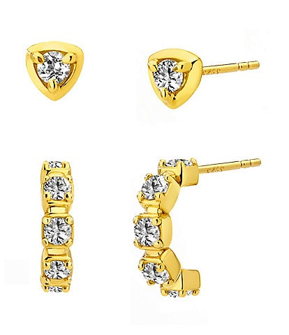 AJOA by Nadri J Hoop Stud Earring Set