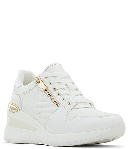 ALDO Adwiwia Quilted Lace-Up Wedge Sneakers