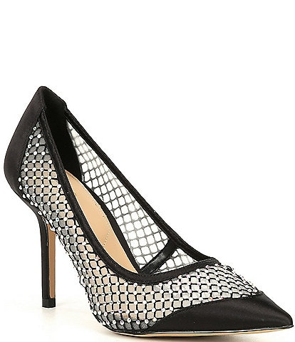 ALDO Dimitras Mesh Rhinestone Embellished Pointed Toe Pumps