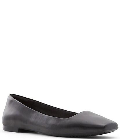ALDO KoosaFlex Leather Square Toe Dress Flats