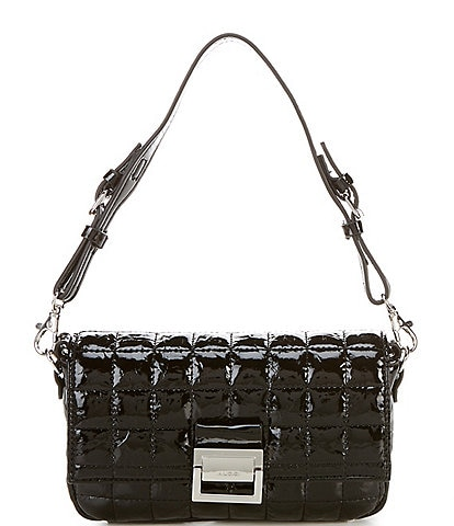 ALDO Oleosa Patent Quilted Shoulder Bag