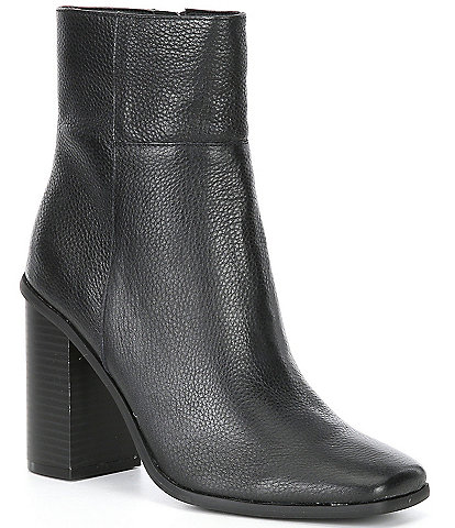 ALDO Trevoa Leather Square Toe Block Heel Booties