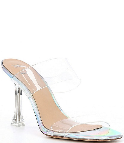 ALDO x Disney Step Sisters Clear Banded Square Toe Cinderella Stiletto Heels