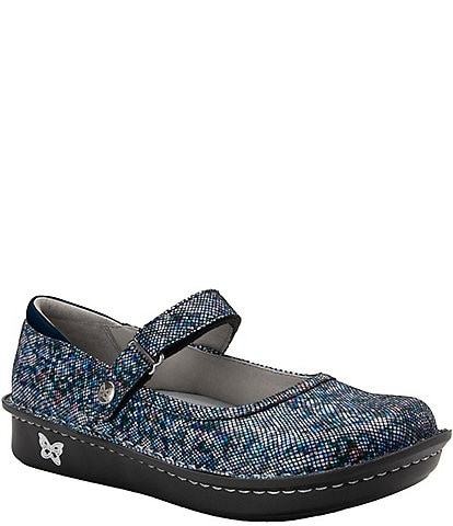 Alegria Belle Printed Leather Mary Janes