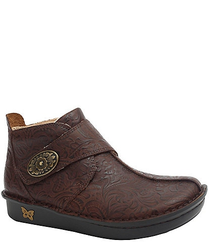 Alegria Caiti Embossible Hickory Print Ankle Boots