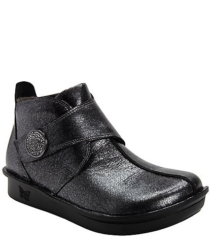 Alegria Caiti Metallic Leather Booties