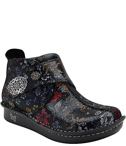 Alegria Caiti Printed Leather Ankle Boots