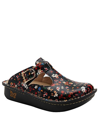 Alegria Classic Kindred Printed Leather Clogs