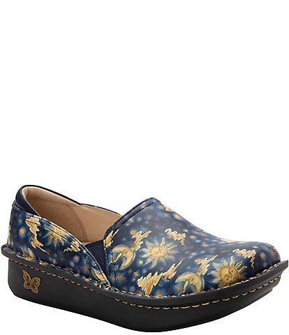 Alegria Debra Lullaby Print Leather Clogs
