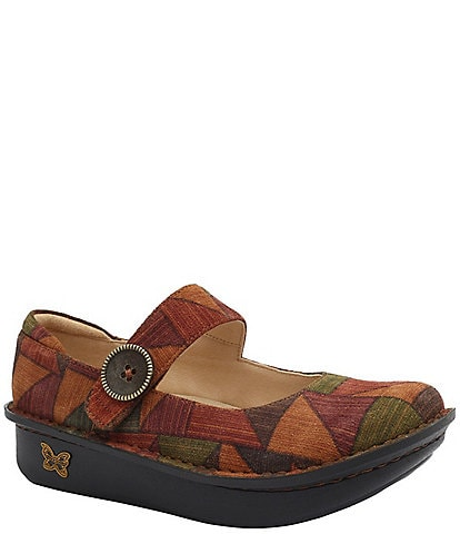 Alegria Paloma Patchwork Printed Leather Mary Janes