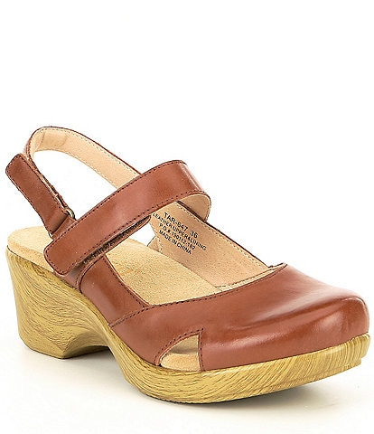 Alegria Tarah Leather Block Heel Clog