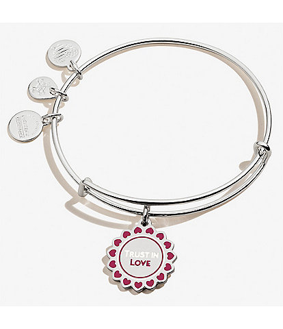 Alex and Ani Color Infusion Trust Charm Bangle Bracelet