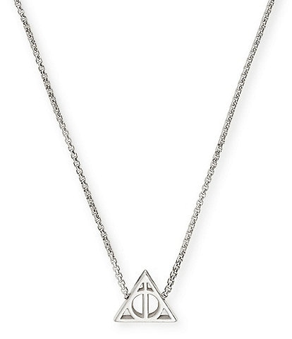 Alex and Ani Harry Potter Deathly Hallows Sterling Silver Fine Necklace