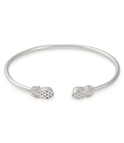 Alex and Ani Sterling Silver Pineapple Cuff