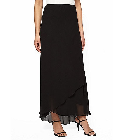 Alex Evenings Chiffon Tulip Hem Maxi Skirt