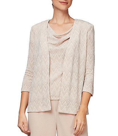 Alex Evenings Cowl Neck Twinset