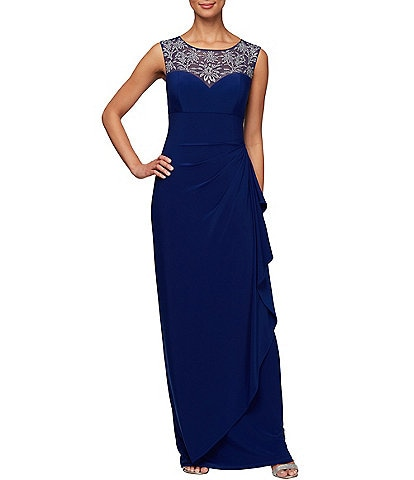 Alex Evenings Embellished Sweetheart Neckline Sleeveless Gown