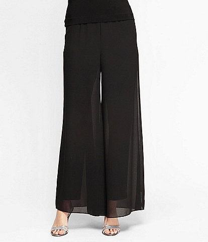 Alex Evenings Georgette Wide Leg Pants