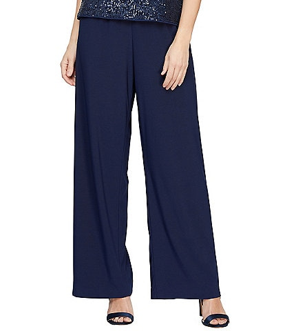 Alex Evenings Matte Jersey Straight Leg Long Pant