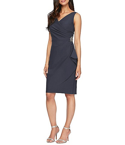 Alex Evenings Petite Ruched Sheath Dress