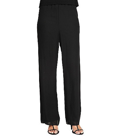 11e603229365 Alex Evenings Petite Silky Chiffon Pants