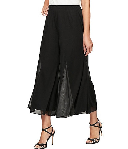 Alex Evenings Petite Size Cropped Wide Leg Pull-On Pants