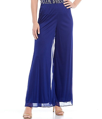 Alex Evenings Petite Size Wide Leg Chiffon Pants