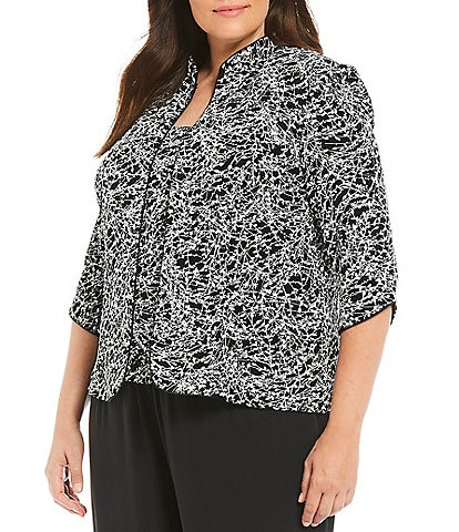 f20689d9dd1 Black Women s Plus Size Dressy Tops   Jackets
