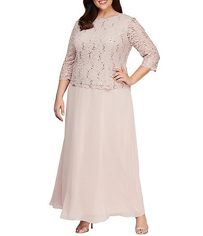 Alex Evenings Plus Size Mother of the Bride Dresses & Gowns ...