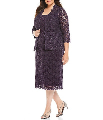 Purple Plus Size Mother of the Bride Dresses & Gowns | Dillard\'s