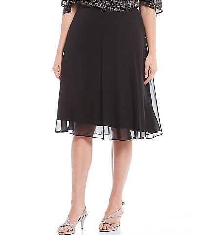 Alex Evenings Plus Size Chiffon A-Line Skirt