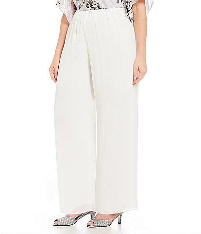 Alex Evenings Plus Size Chiffon Pant