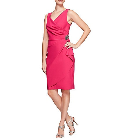 Alex Evenings Ruched Sheath Dress