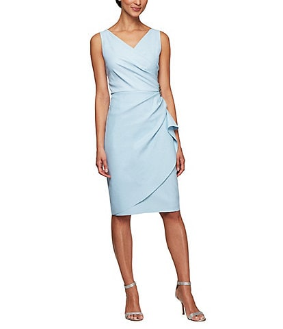 c2f0e2cd05a Alex Evenings Ruched Sheath Dress