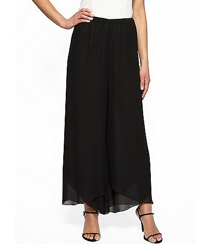 Alex Evenings Tulip Hem Wide Leg Pant