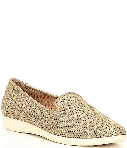 Alex Marie Addymar Metallic Dot Laser Cut Slip On Sneakers