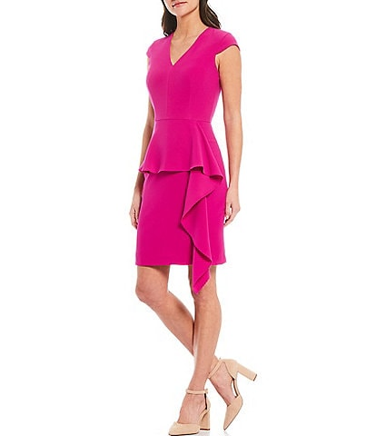 Alex Marie Aria Asymmetrical Ruffle Dress